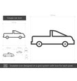 coupe car line icon vector image vector image