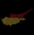cyprus map mosaic of dots vector image
