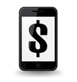 Dollar Smart Phone vector image
