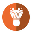 drum djembe percussion african shadow vector image
