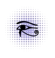 Eye of Horus icon in comics style vector image vector image