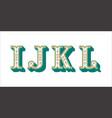 folk alphabet ornamental floral letter i j k l vector image vector image