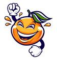 funny cartoon mandarin character vector image