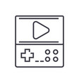 game console line icon sign vector image vector image