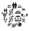 gays simple icons set vector image