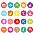 General healthcare flat icons on white background vector image vector image