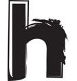 grunge font letter h vector image