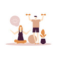 home fitness - flat design style colorful vector image