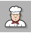 Icon chef in white hat made in the style of vector image