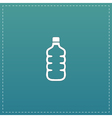Icon of plastic water bottle vector image