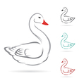 image of swan vector image vector image