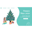 landing page happy new year concept vector image