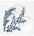 lespedeza japanese paint style design sketch vector image