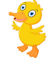 little baby duck cartoon vector image vector image