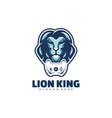logo lion king simple mascot style vector image vector image