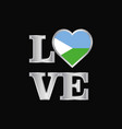 love typography djibouti flag design beautiful vector image vector image