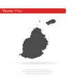 map mauritius isolated black vector image vector image