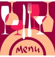 Menu cover background vector image vector image