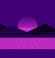 neon sunset in the style of 80s simulation vector image vector image