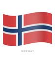 norway waving flag icon vector image