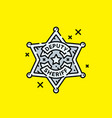old deputy sheriff badge icon vector image vector image