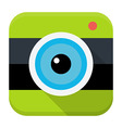 Photo cam flat app icon vector image