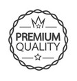 premium quality badge icon vector image