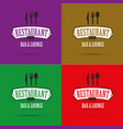 restaurant banners set vector image