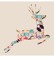 Retro hipsters icons reindeer vector image vector image