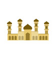 sand color islamic mosque building design vector image vector image
