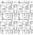 seamless pattern architectural plans vector image vector image