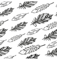 Seamless pattern Hand drawn bird black feathers vector image vector image