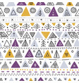 seamless pattern with ethnic tribal boho triangle vector image