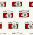 seamless pattern with retro hand drawn hipster vector image vector image