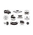 set logo and emblem for street food shop vector image vector image