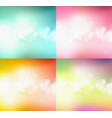 set of bokeh abstract light background vector image