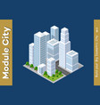 set of urban areas of modules vector image vector image