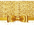 Shiny gold satin ribbon on white background vector image vector image