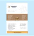 template layout for villa comany profile annual vector image