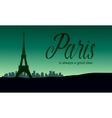 The Eiffel tower in Paris of silhouette vector image vector image