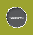 torn paper frame with ripped edges realistic vector image vector image