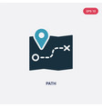 two color path icon from strategy concept vector image
