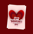 valentines day card with red background vector image vector image