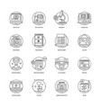 web and mobile app development line icons 4 vector image