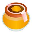 wildflower honey jar icon isometric style vector image