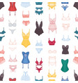 woman lingerie seamless pattern erotic vector image