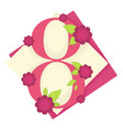 womens day holiday 8 march isolated icon tulip vector image vector image
