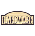 wooden hardware store sign vector image vector image