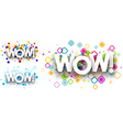 Wow colour backgrounds vector image vector image