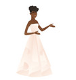 young african-american fiancee gesturing vector image vector image